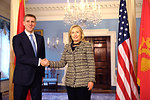 Secretary Clinton Meets With Montenegrin Prime Minister Luksic