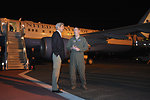 Secretary Kerry Chats With an Air Force Colonel