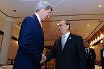 Secretary Kerry Greets Burmese President Thein Seinecretary Kerry Greets Burmese Presdient Thein Sein