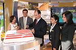 Ambassador Duddy Cuts the American Cake