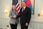 Secretary Clinton Meets With Azerbaijani President Aliyev