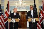 Secretary Kerry and UK Foreign Secretary Hague Address Reporters