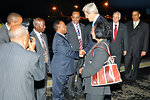 Secretary Kerry Is Greeted By Ethiopian Officials