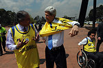Secretary Kerry Dons the Jersey of the Colombian Wheelchair Rugby Team