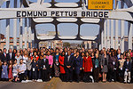 March 4, 2012 Administrator Jackson and community leaders complete the crossing of the Edmund Pettus Bridge in Selma, Alabama