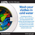 Wash your clothes in cold water