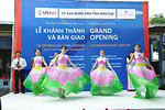 Singers and dancers perform at a kindergarten hand-over ceremony in Kon Tum.