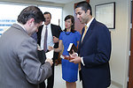 FCC Chairman Genachowski with Commissioners Ajit Pai and Jessica Rosenworcel