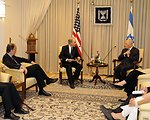 U.S. Special Envoy George Mitchell Meets With Israeli Defense Minister