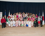 Participants at the Cherry Blossom Centennial Event Pose for a Photo