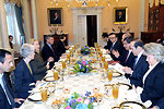 Secretary Clinton Holds Working Lunch With Foreign Minister Davutoglu of Turkey