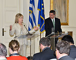 Secretary Clinton and Greek Foreign Minister Lambrinidis Host a Joint Press Conference
