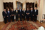 Secretary Kerry Poses for a Photo with the Arab League Delegation