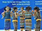 Children celebrate 25 refurbished and expanded kindergartens.