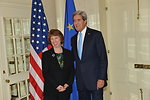 Secretary Kerry Meets With EU High Representative Ashton