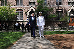 Secretary Kerry Escorted by Navy Lieutenant For Class Day Speech