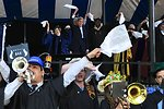 Secretary Kerry Waves White Handkerchief in Yale University Tradition