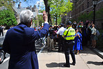 Secretary Kerry Waves to Yale University Students at Class Day