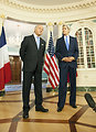 Secretary Kerry and French Foreign Minister Fabius Address Reporters