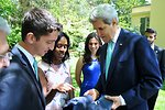 Yale Seniors Present Secretary Kerry With Commemorative Baseball Caps