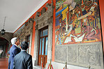 Secretary Kerry Admires Diego Rivera Murals in Mexico City