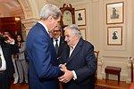 Secretary Kerry Greets Uruguayan President Mujica