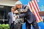 Secretary Kerry Greets Longtime Embassy Mexico City Employee Alvarado