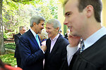 Secretary Kerry Speaks With Former Colleague Senator Portman at Yale University