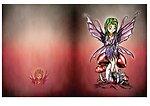 Fairy on mushroom card