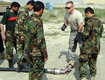 Airman instructs Kabul's first POL course