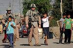 On patrol in Baghdad
