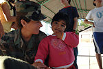 Airmen spend day with Chilean children