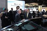 Energy Secretary Steven Chu chatting with a Dodge