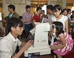 Eye screening for kindergarten children in Quoc Oai district of Hanoi