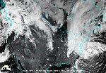 November 2, 2012: Satellite View of Sandy at Night