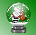 Santa and Rudolph forever in a Snow Globe