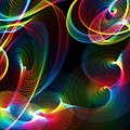 Abstract rainbow twirls