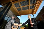 Energy Secretary Chu Visits Appalachian State University's Solar Decathlon House