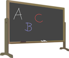 Illustration of a chalkboard