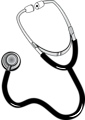 Illustration of a stethoscope