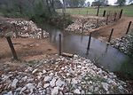 Concrete water crossing for livestock.  Buffers an
