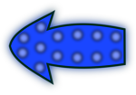 Illustration of a blue left arrow