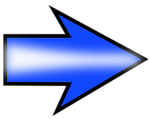 Illustration of a blue right arrow