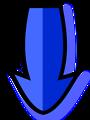 Illustration of a blue arrow