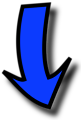 Illustration of a blue arrow