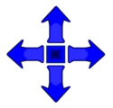 Illustration of blue arrows
