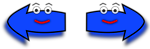 Illustration of blue arrows