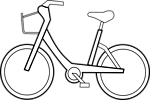 Illustration of a bicycle