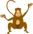 Illustration of a cartoon monkey
