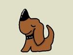 Illustration of a cartoon puppy